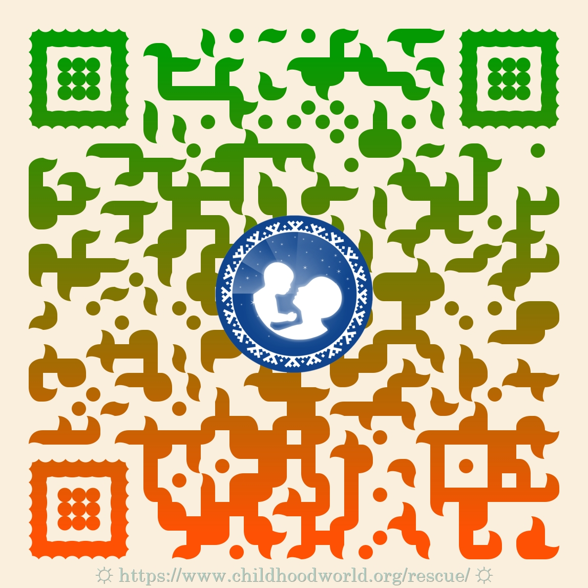Child Protection Project «Happiness in Freedom» | QR-code of publication